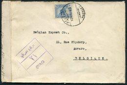 1945 Iraq Baghdad Jewish Merchant Censor Cover - Anvers Belgium - Iraq