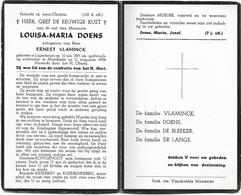 Doodsprentje  *  Doens Louisa-Maria (° Lapscheure 1891 / + Moerkerke 1958) X Vlaminck Ernest - Religion & Esotérisme