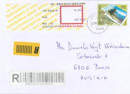 Skopje Marke Auf Marke Pinusr-Brief - Macedonië