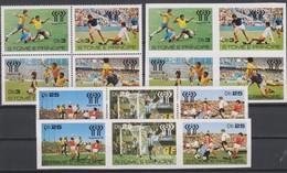 Soccer World Cup 1978 - Footbal - SAO TOME - Set Perf.+imp. MNH - World Cup