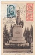 TAMINES / LE MONUMENT 1914-18 / TIMBRES AVEC CACHET 1974 - Sambreville