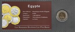 0012 - 'MONNAIES BICOLORES LES PLUS RARES' - Egypte - 1 Pound - 2005 - Egypte