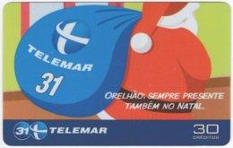 BRASIL I-804 Magnetic Telemar - Occasion, Christmas - Used - Brazil