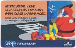 BRASIL I-805 Magnetic Telemar - Occasion, Christmas - Used - Brazil