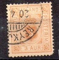 Sello De Islandia Servicio N ºYvert 3A (o)  Valor Catálogo 55.0€ - Oficiales