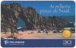 BRASIL I-819 Magnetic Telemar - Landscape, Coast - Used - Brazil