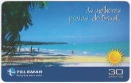BRASIL I-820 Magnetic Telemar - Landscape, Coast - Used - Brazil