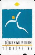 Turkey - TT - Alcatel - 1st World Air Games - N-0011, Logo, 30U, 1997, 10.000ex, Used - Turkey