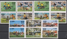 Soccer World Cup 1978 - Footbal - SAO TOME - Set Perf.+imp. Black Ovp MNH - World Cup