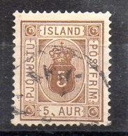 Sello De Islandia Servicio N ºYvert 5A (o)  Valor Catálogo 12.0€ - Oficiales