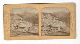 VILLEFRANCHE SUR MER  Stéréo Vue Générale ( Vers 1865 - 75 ) ( Couleur Contre La Lumière ) - Fotos Estereoscópicas