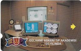 Turkey - TT - Alcatel - Military Medical Academy - N-0017, Computerised Tomography, 30U, 1998, 10.000ex, Used - Turkey