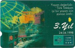 Turkey - TT - Alcatel - 3rd Anniversary Of TT - N-0024, 30U, 1998, 50.000ex, Used - Turkey