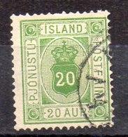 Sello De Islandia Servicio N ºYvert 8A (o)  Valor Catálogo 35.0€ - Oficiales