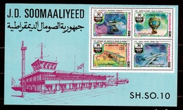 1977 Somalia ICAO Foglietto Di 4v. (4) MNH** I.C.A.O. Souv. Sheet - Somalia (1960-...)