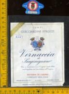 Etichetta Vino Liquore Vernaccia Di Sangimignano 1975 Fatt. Di Cusona - SI - Etichette