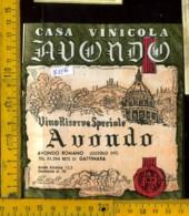 Etichetta Vino Liquore Avondo Romano  - Lozzolo Gattinara VC - Etichette