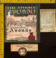 Etichetta Vino Liquore Avondo Romano  - Lozzolo Gattinara - Etichette