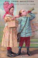 """Belle Chromo """"Aux Trois Quartiers"""", Nouveautés élégantes Vendues Bon Marché. Le Buveur, Enfants Avec Leur Chopine - Other"""