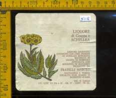 Etichetta Vino Liquore Liquore Di Grappa E Achillea F.lli Marolo -Mussotto D'Alba CN - Etichette