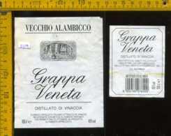 Etichetta Vino Liquore Grappa Veneta Vecchio Alambicco - Predengo BG - Etichette