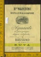 Etichetta Vino Liquore Acquavite Di Pura Graspa B.lo Nardini-Bassano Del Grappa VI - Etichette