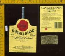 Etichetta Vino Liquore Gammel Dansk Bitters - Danimarca - Etichette