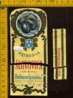 Etichetta Vino Liquore Prirodna Sljivovica - Jugoslavia (forte Difetto) - Etichette