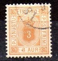 Sello De Islandia Servicio N ºYvert 3B (o)  D-12 1/2Valor Catálogo 25.0€ - Oficiales