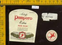 Etichetta Vino Liquore Anejo Pampero Red Rum - Venezuela - Etichette