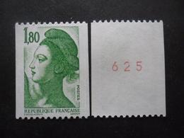 FRANCE Liberté De Gandon N°2378b N°rouge Au Verso Neuf ** - 1982-90 Liberté (Gandon)