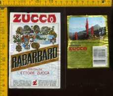 Etichetta Vino Liquore Elixir Rabarbaro E. Zucca - MI - Etichette