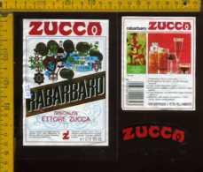 Etichetta Vino Liquore Elixir Rabarbaro E. Zucca - Saronno VA - Etichette
