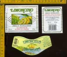 Etichetta Vino Liquore Limoncino Della Scogliera - Pedrengo BG - Etichette