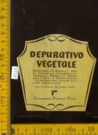 Etichetta Vino Liquore Depurativo Vegetale - Farmaceutici  Procemsa TO - Etichette