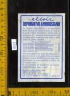 Etichetta Vino Liquore Elisir Depurativo Ambrosiano - Delta Pharm MI - Etichette