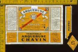 Etichetta Vino Liquore Arquebuse 1966 -  Destillerie Chavin MI (difetto) - Etiquettes
