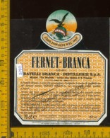 Etichetta Vino Liquore Fernet Branca Destillerie Fratelli Branca MI - Etichette