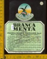 Etichetta Vino Liquore Branca Menta  Destillerie Fratelli Branca MI - Etichette