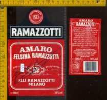 Etichetta Vino Liquore Amaro Felsina Ramazzotti  - Milano - Etichette