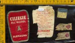 Etichetta Vino Liquore Ciliegie All'Alcool Alemagna - Milano - Etichette