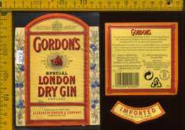 Etichetta Vino Liquore London Dry Gin  Gordon's - Inghilterra - Etichette