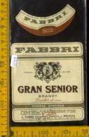 Etichetta Vino Liquore Brandy Grant Senior G Fabbri - Bologna - Etichette