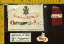 Etichetta Vino Liquore Domaine De Beaucastel 1962 - Francia - Etichette