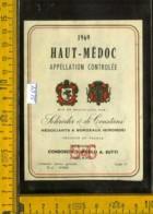 Etichetta Vino Liquore Haut-Mèdoc 1969 - Francia - Etichette