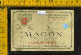 Etichetta Vino Liquore Macon-Michel Grivelet - Francia (difetto) - Etichette