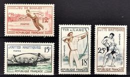 FRANCE 1958 -  SERIE Y.T. N° 1161 A 1164  - 4 TP NEUFS** - France