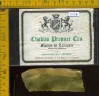 Etichetta Vino Liquore Chablis Premier Cru - Francia (difetto) - Etichette