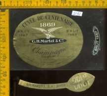 Etichetta Vino Liquore Champagne Opernay Brut 1967 - Francia - Etichette