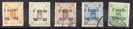 Sello De Islandia Servicio N ºYvert 10A/11A/12A/13A Y 15A (o)  D-12 1/2 Valor Catálogo 21.0€ - Oficiales